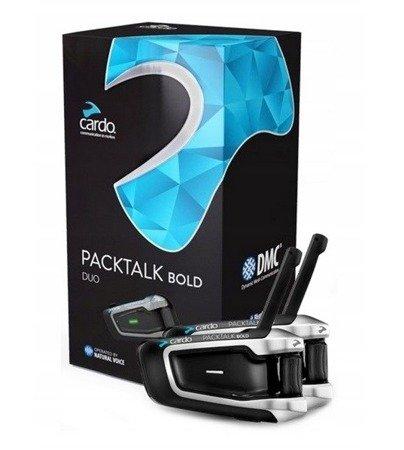 Interkom Cardo Packtalk Bold JBL na 2 kaski