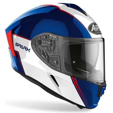 Kask AIROH Spark Flow blue / red gloss