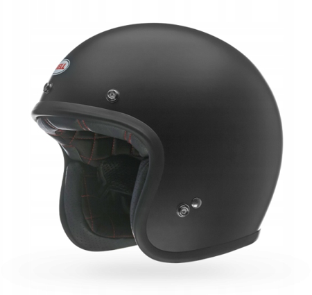 Kask BELL Custom 500 black matt z wizjerem 3-SNAP SLIP CLEAR