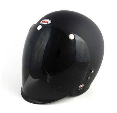 Kask BELL Custom 500 black matt z wizjerem dark smoke