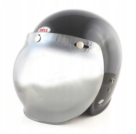 Kask BELL Custom 500 black  z wizjerem bubble silver