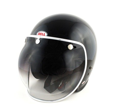 Kask BELL Custom 500 black z wizjerem bubble smoke