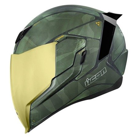 Kask ICON AIRFLITE Battlescar 2 gold mirror