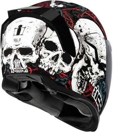 Kask ICON AIRFLITE Skull dark smoke