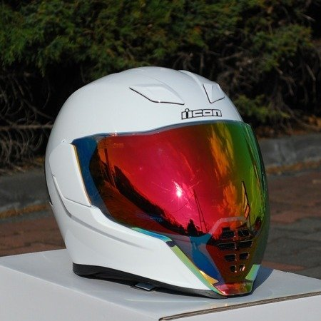Kask ICON AIRFLITE white red mirror