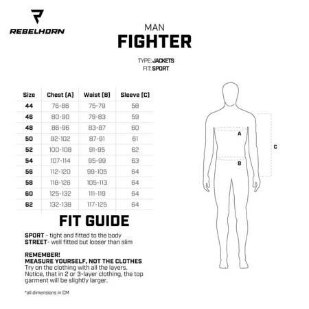 Kombinezon 2 częściowy REBELHORN Fighter fluo / black