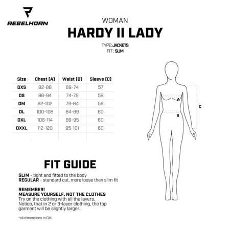 Kurtka REBELHORN Hardy II lady grey flo