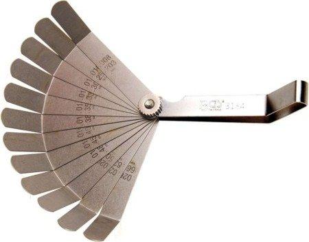 Szczelinomierz calowy 12 listków 0,10 - 0,50 mm