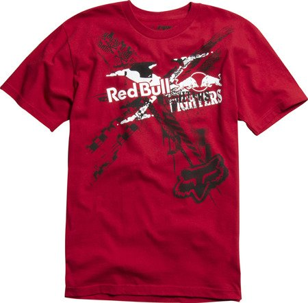 T-shirt FOX Red Bull X-Fighters czerwony