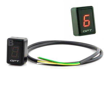 Wyświetlacz wskaźnik biegów GPT GI1001 czerwony uniwersalny