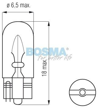 Żarówka Bosma T07 12V 3W