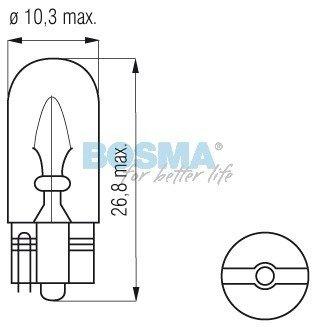 Żarówka Bosma T10 W5W 12V 5W